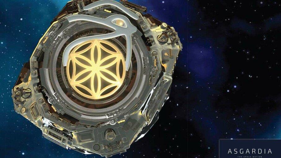 An artist's impression of Asgardia's first satellite James Vaughan/Asgardia