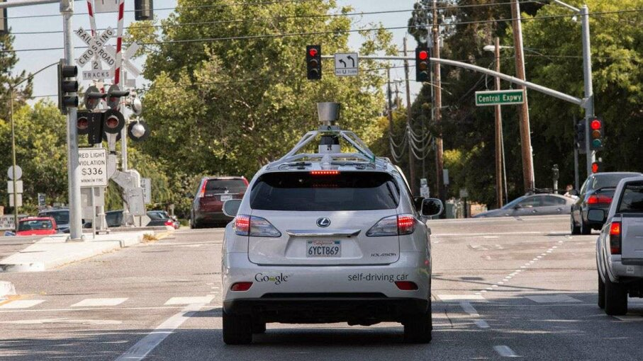 Pictured is the Google self-driving Lexus RX450h SUV. One of Google's retrofitted SUVs got in an accident on July 1. Image courtesy Google