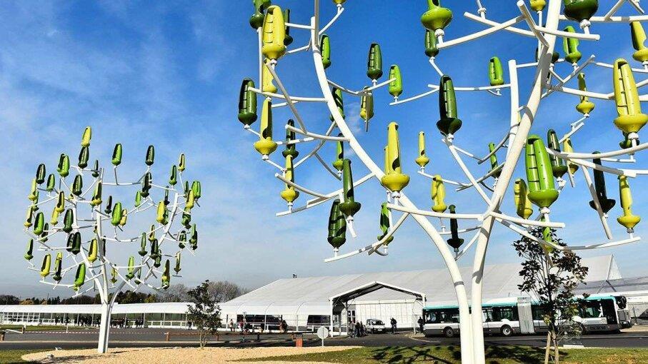 wind tree, turbine, renewable energy