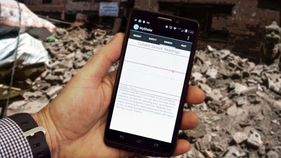MyShake is a new app intended to act as a pre-warning system for earthquakes. Photo Illustration: Myshake/Asanka Brendon Ratnayake/Getty Images