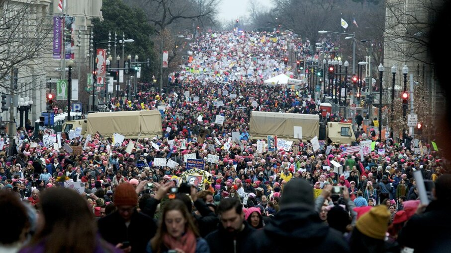 The Women's March on Washington brought an estimated 500,000 people into the streets of the nation's capital. Bastiaan Slabbers/NurPhoto/Getty Images