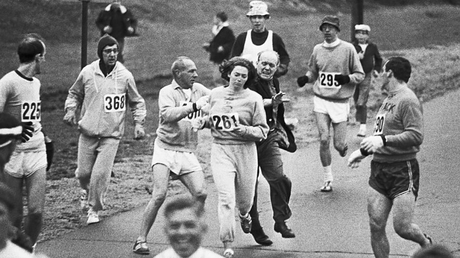 Kathrine Switzer became an icon for athletes and women due not just to her running ability, but an incident during the 1967 Boston Marathon. Bettmann/Getty Images
