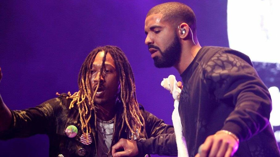 Artists Future and Drake perform in Inglewood, California, in November 2015. Leon Bennett/Getty Images