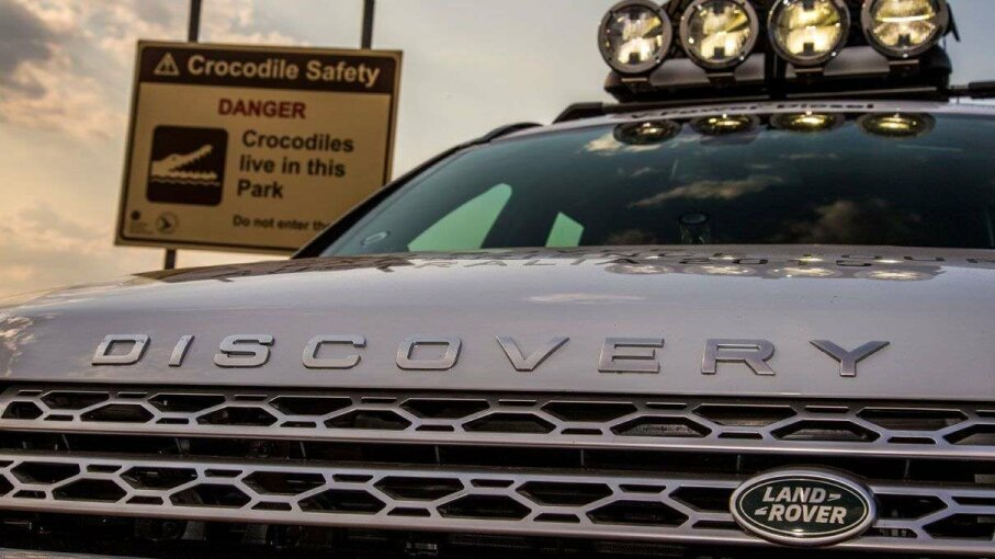 Crocodiles aren't likely to be among the obstacles in Portland, but the Discovery Sport Experience is a challenge to drivers, nonetheless. Copyright Jaguar Land Rover