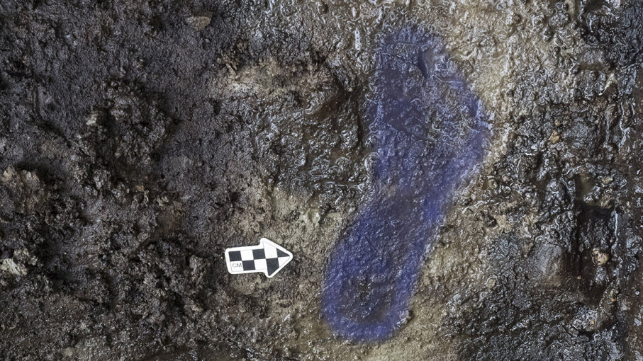 oldest footprints in North America