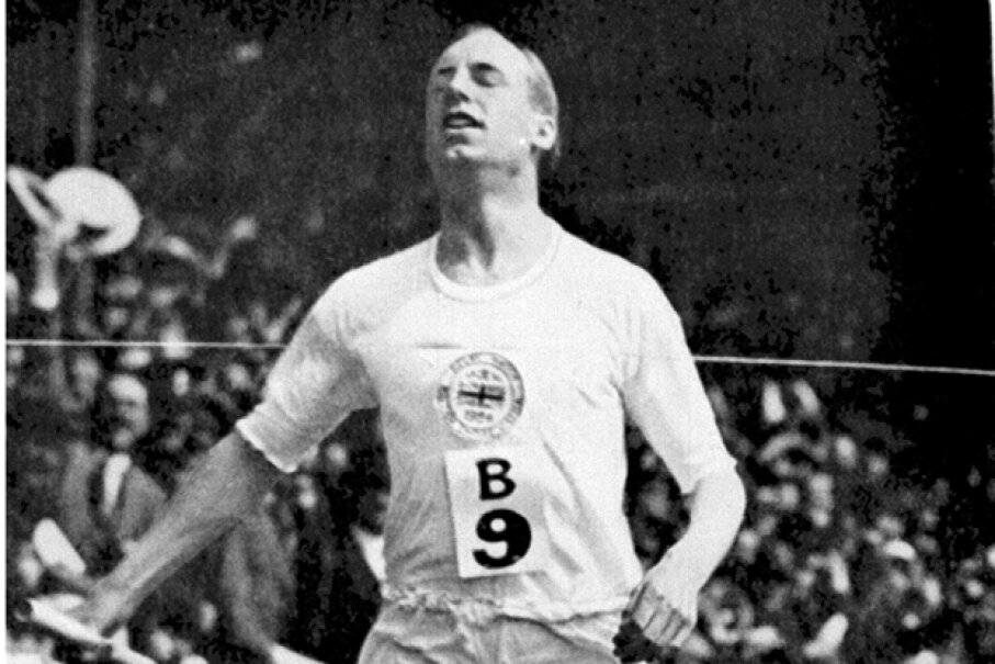 Scottish athlete Eric Liddell won the 400 meter race at the 1924 Olympics. Getty Images