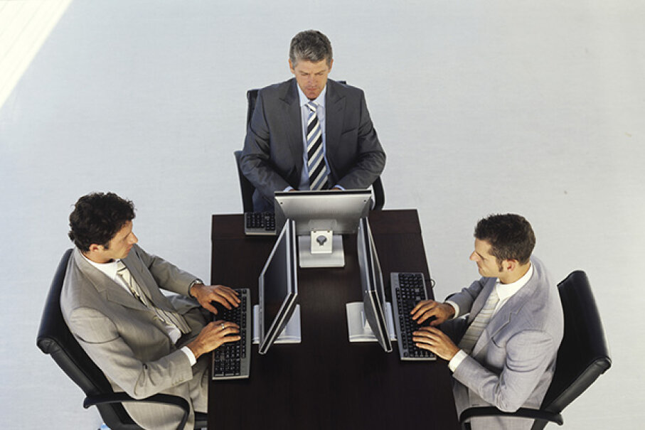 Create some spots in your open plan office where people can hide out to work in small groups or by themselves. George Doyle/Stockbyte/Thinkstock