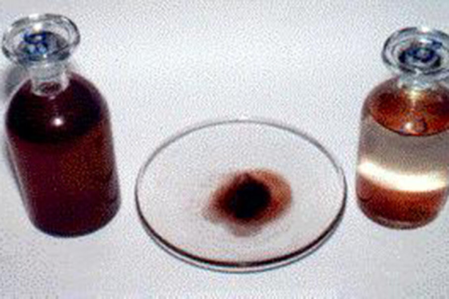 Here are some red rain specimens collected during the Kerala downpour.  Wikimedia Commons
