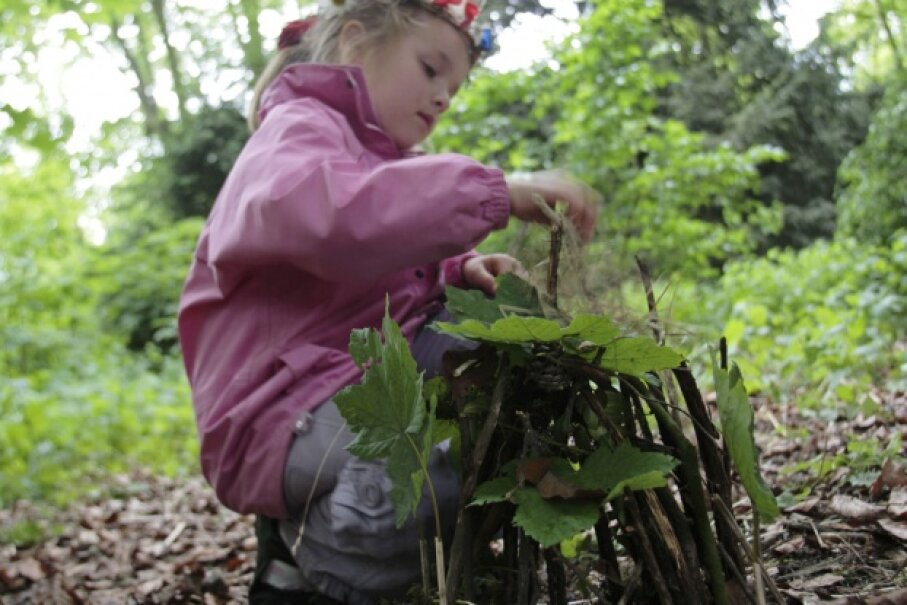 Fairy houses give kids a chance to get really creative with found objects. ©Will Gray/Getty Images