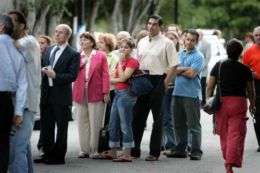 Some Miami voters waited up to three hours to cast their ballots in the 2004 U.S. presidential election.  Was it worth the time? Joe Raedle/Getty Images