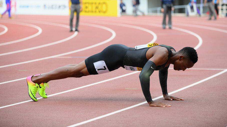 Isaac Makwala, pushup, IAAF