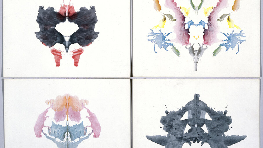 Hermann Rorschach, creator of the Rorschach test, designed these four ink blot tests. SSPL/Getty Images