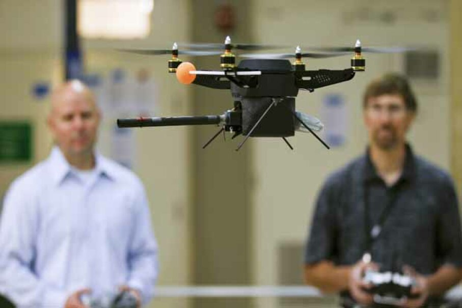 Drones like this one might be coming to a hiking tail near you. iStock/Thinkstockphoto