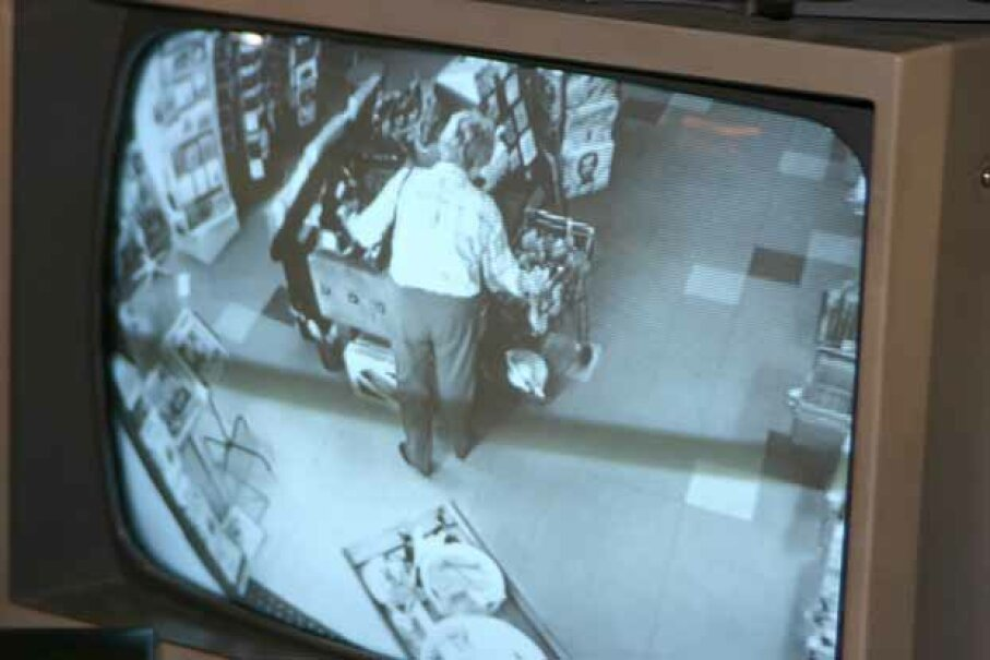 One place that is well-known for having security cameras is a retail store. iStock/Thinkstockphoto