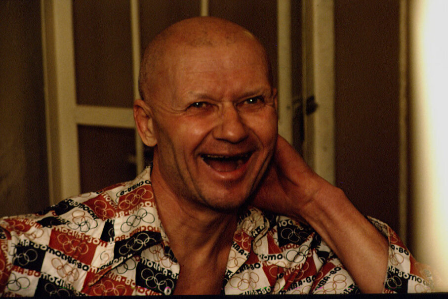 Notorious Ukrainian cannibalistic serial killer Andrei Chikatilo is shown behind bars in Rostov on the Don, Russia. Georges DeKeerle/Sygma via Getty Images