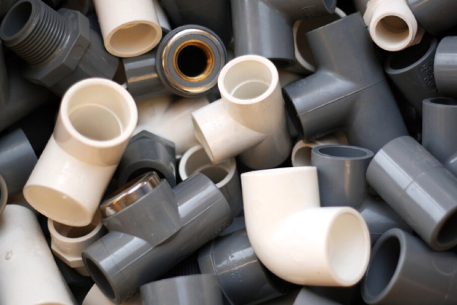 Use common PVC pipes and connectors to build a custom fort frame. Danish Khan/Getty Images