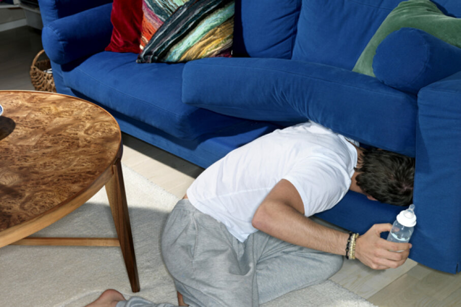 Check under those sofa cushions to see if there's loose change hiding. Jonatan Fernstrom/Stone/Getty Images
