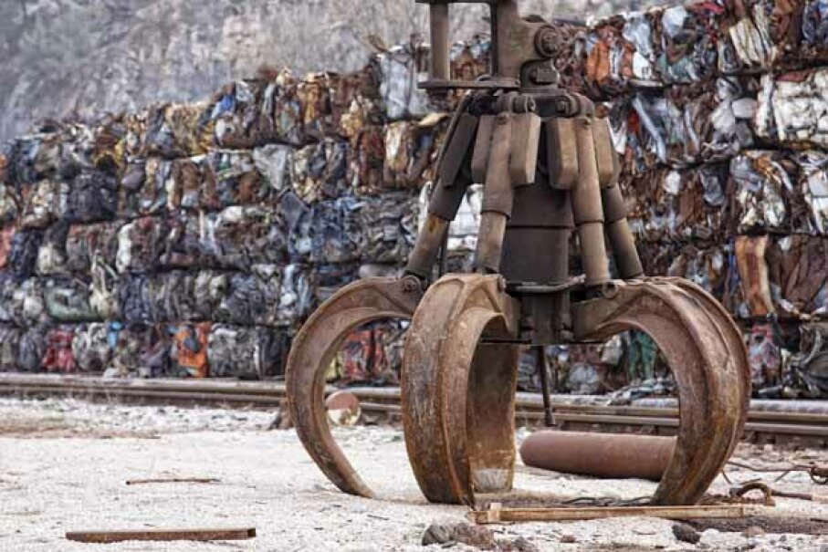 Scrap yards and metal recyclers will pay by the pound for new, used or extremely used items made from materials like steel, iron, aluminum, brass and especially, copper. iStockphoto/Thinkstock