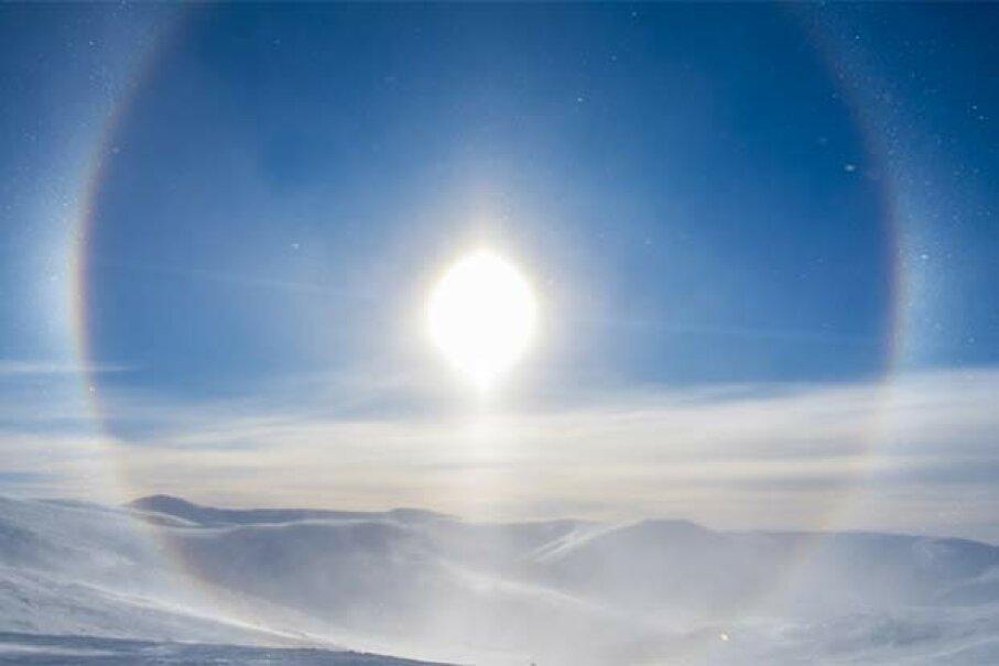 A circular rainbow is seen at Eagle Summit, Alaska. John Brown/Getty Images