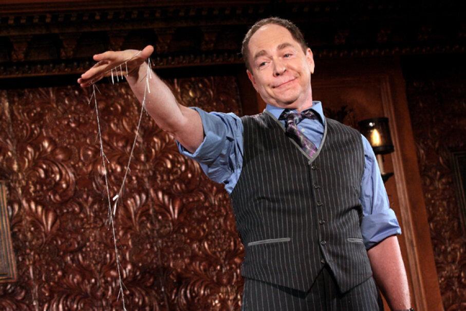 Raymond Teller, the silent half of the magic duo Penn & Teller, onstage in New York in 2015. Steve Mack/Getty Images