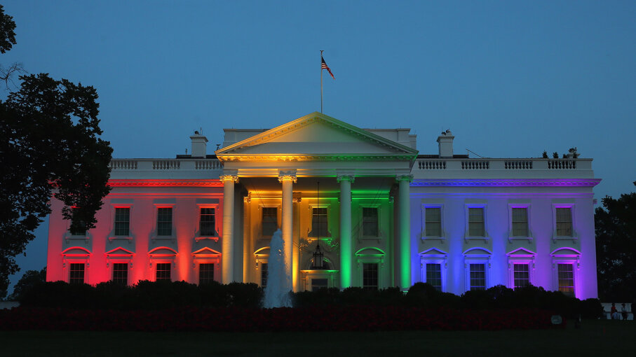 rainbow lit up White House