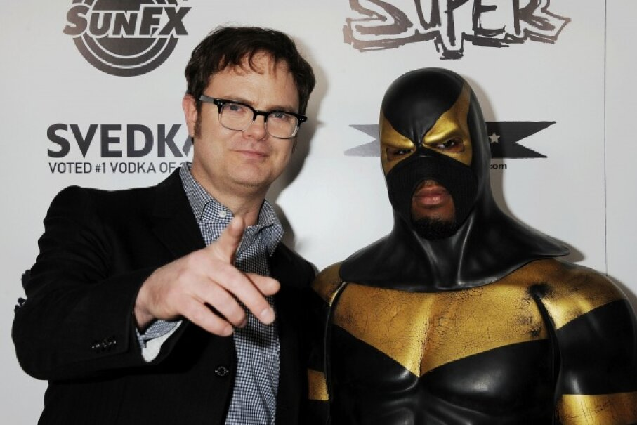 Phoenix Jones, pictured here with actor Rainn Wilson at the premiere of the documentary 'Super' in Los Angeles, Calif. on March 21, 2011. ©Jeffrey Mayer/WireImage