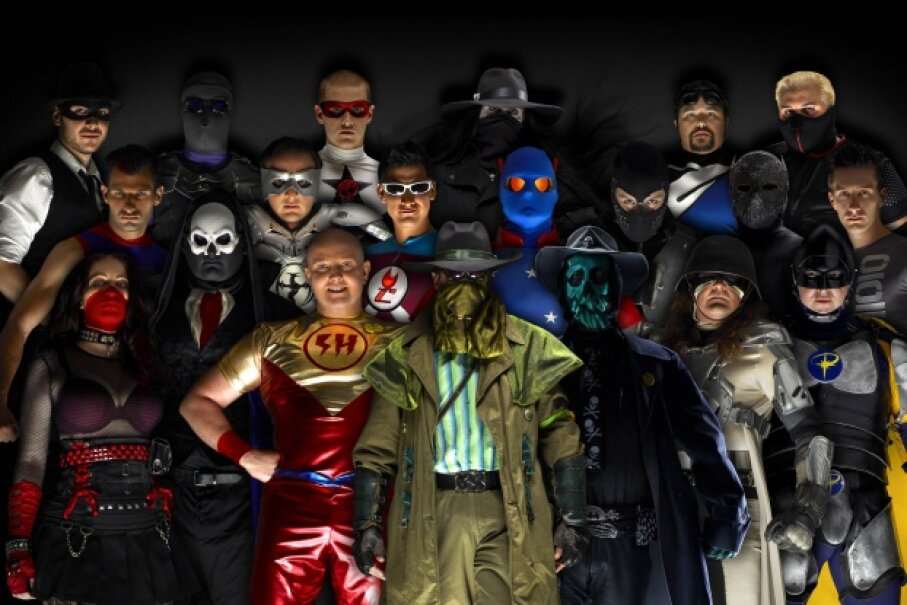 You might be surprised at just how many masked crime fighters are out there combatting injustice.  ©Peter Tangen / Barcroft USA / Getty Images