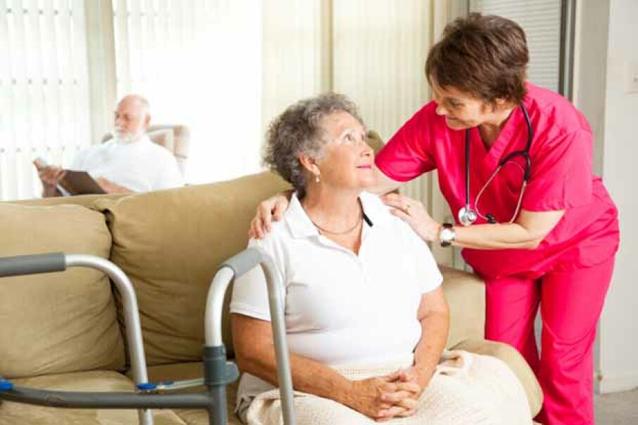 The BLS predicts a 70 percent growth in demand for home health aides between 2010 and 2020. iStock/Thinkstock