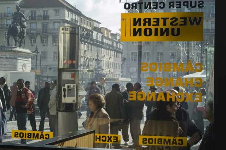 A Western Union office in Lisbon, Portugal. Once best-known for telegrams, Western Union has reinvented itself as a money transfer business. Brent Winebrenner/Lonely Planet Images/Gett Images