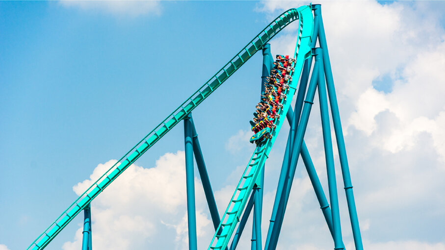 free fall roller coaster