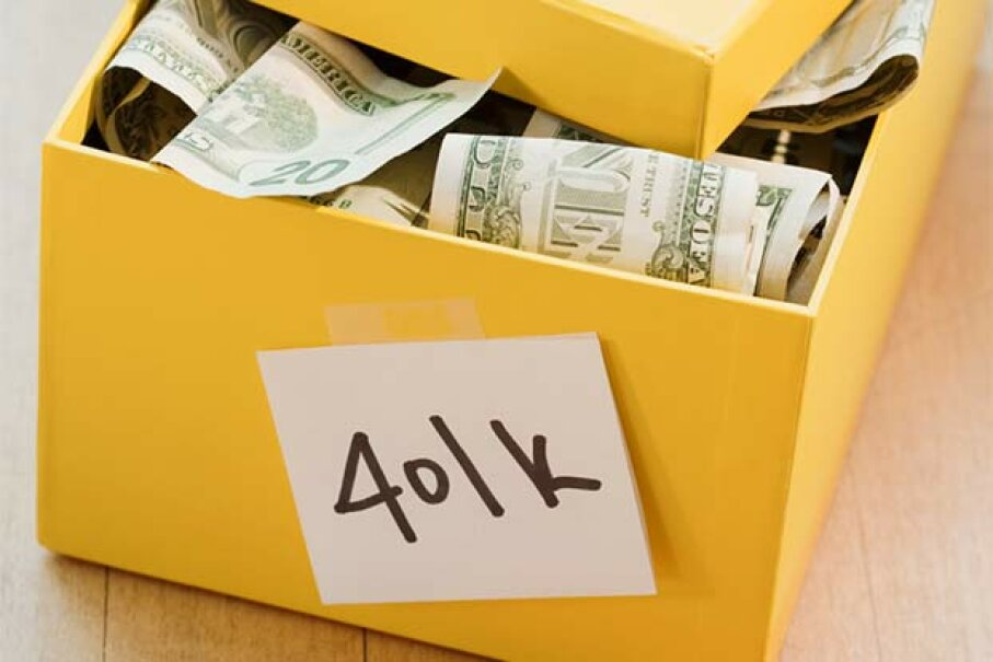 Your company must put its contribution in the traditional 401(k) box. Jamie Grill/Getty Images