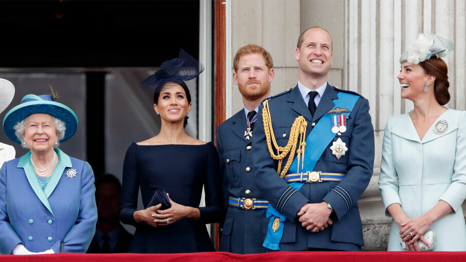 Queen Elizabeth, Prince Harry, Meghan Markle, Duchess Kate