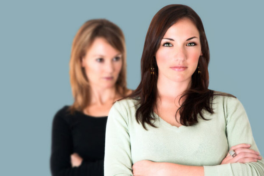 If there's resentment brewing between you and a family member, the best you can do is focus on your end of the problem and try to just let go of it. ©iStockphoto.com/Luba Nel