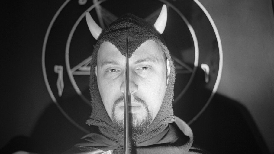 Anton LaVey, founder of the Church of Satan, is pictured here in costume. Bettmann/Getty Images