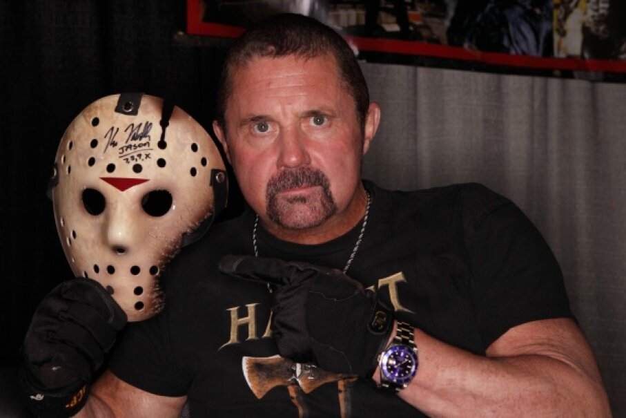 "Kane Hodder, who portrayed Jason Voorhees in four of the ""Friday the 13th"" films, totally looks like a dog lover, doesn't he? Royce DeGrie/Getty Images"