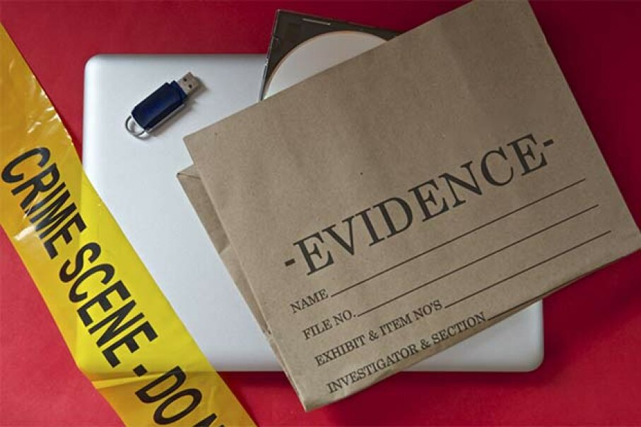 You might find proof at a crime scene, but you won't in a science lab. Grumpy59/iStock/Thinkstock