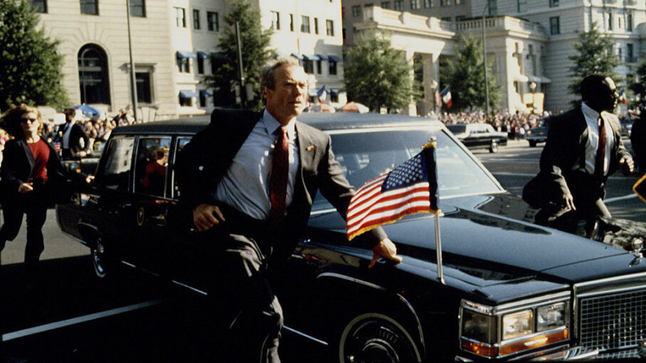 "The 1993 movie ""In the Line of Fire"" (starring Clint Eastwood) typifies the Hollywood image of the Secret Service. Bruce McBroom/Sygma via Getty Images"