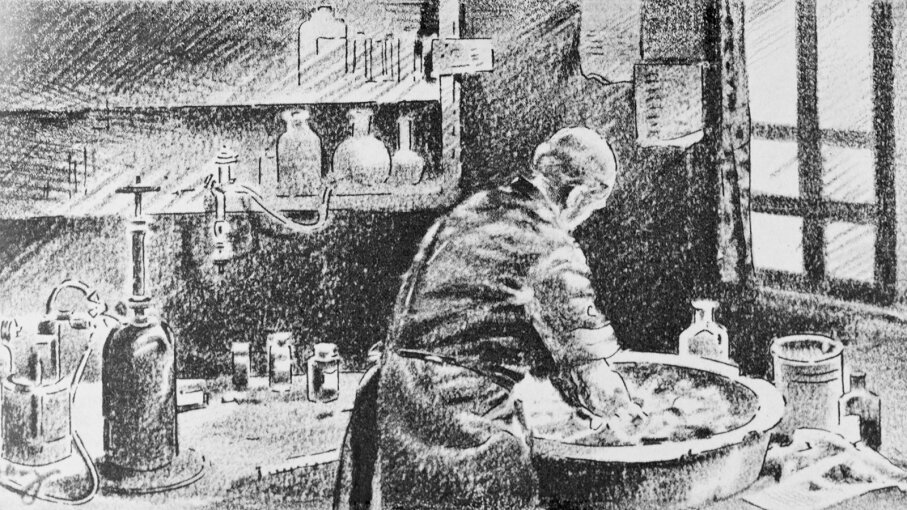 Ignaz Semmelweis washes his hands