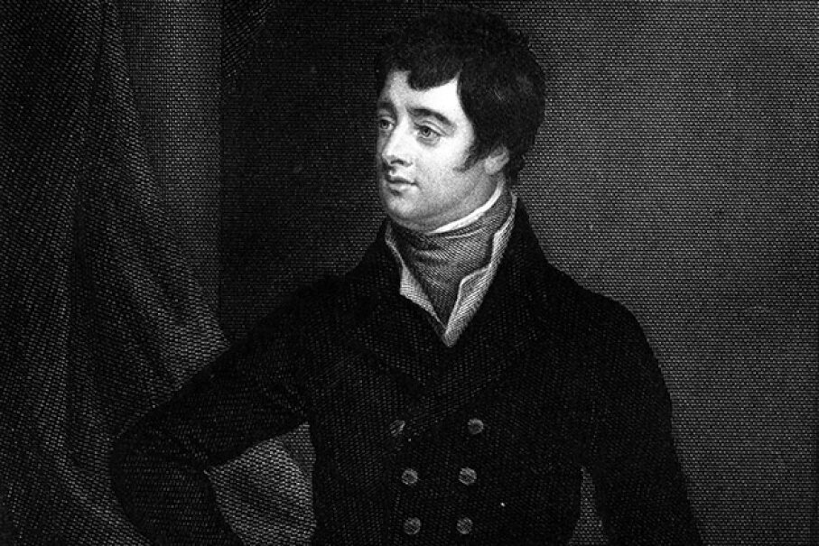 Lord Edward Fitzgerald joined the United Irishmen in 1796 and arranged for a French invasion of Ireland. He was seized and killed in Dublin. Hulton Archive/Getty Images