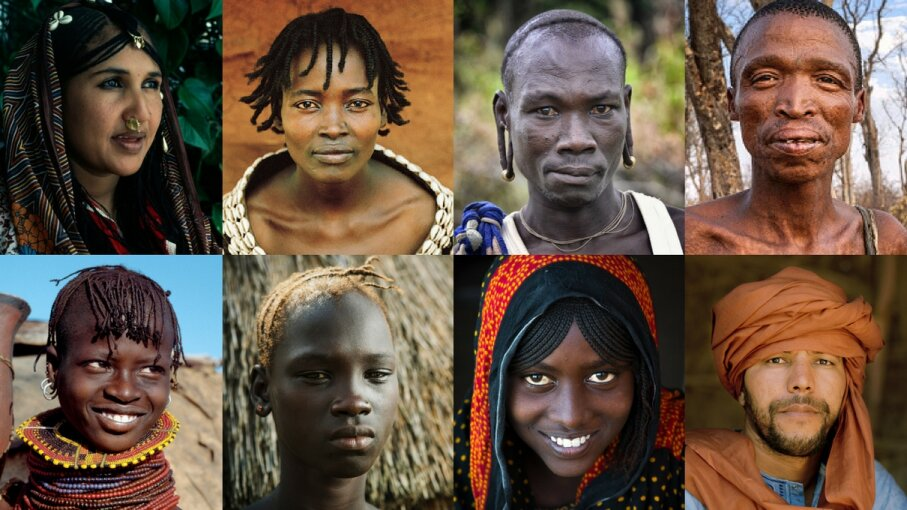collage of portraits of varying african ethnic groups