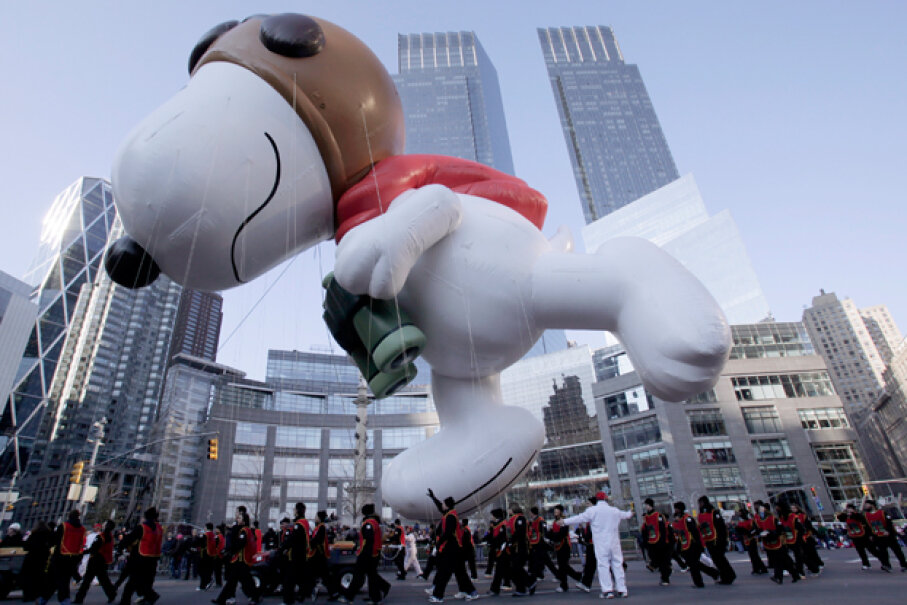 The character of Snoopy has shown up in many forms, from Sno-cone purveyor to giant parade balloon. © Brendan McDermid/Reuters/Corbis