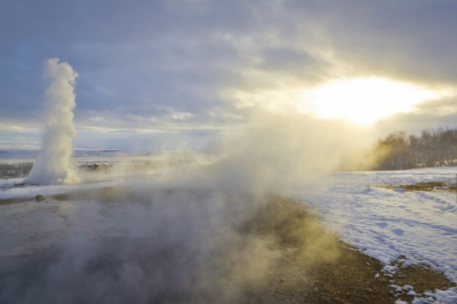 It won't look exactly like the show put on by this geyser, but you might be surprised at how awesome this simple experiment is. silkenphotography/iStock/Thinkstock