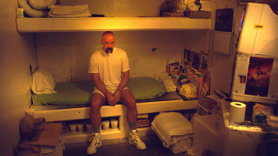 A prisoner sits in his cell in solitary confinement in California's Pelican Bay prison, known as California's toughest prison. Prisoners have protested the harsh conditions of solitary confinement there for years. Andrew Lichtenstein/Corbis via Getty Images