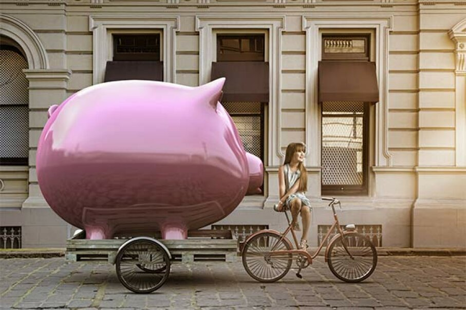 Do you have enough in your piggy bank to start your business? Or do you know how to get the money? Colin Anderson/Blend images/Getty Images