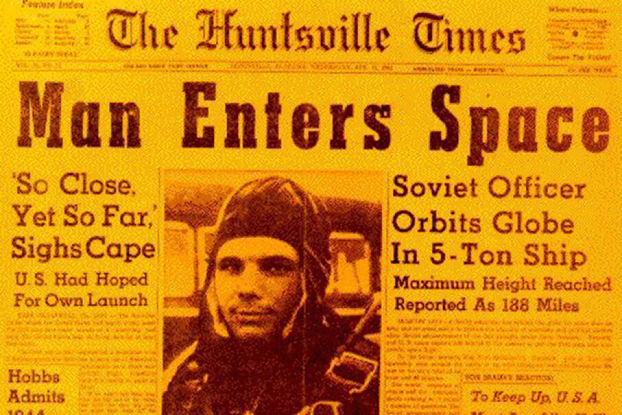 History books say that Yuri Gagarin was the first man in space, but was he? Image courtesy NASA