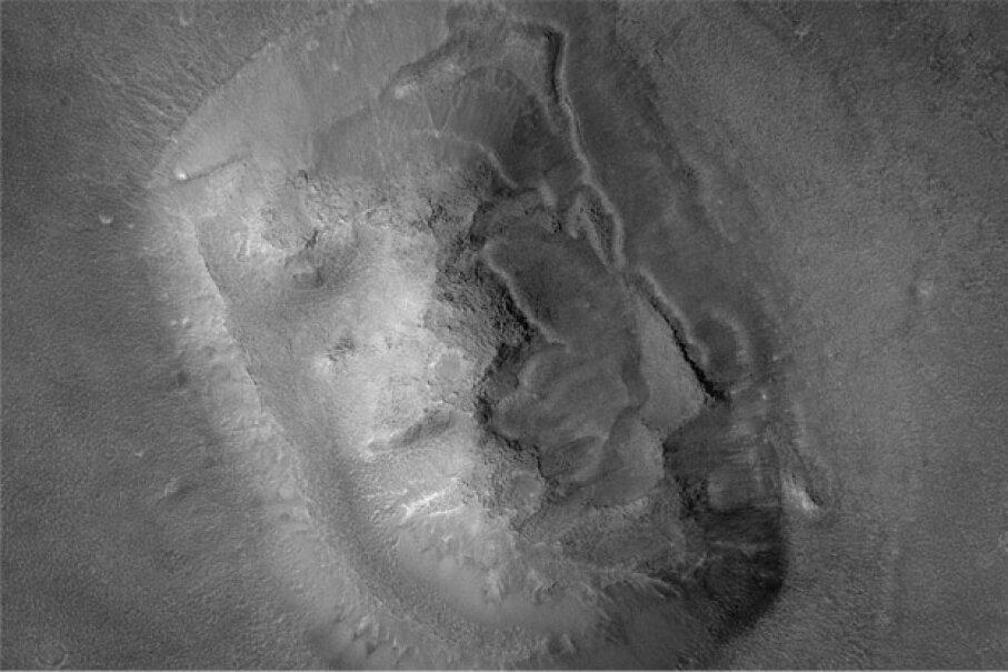 The red planet. Do you see a face? Photo courtesy NASA