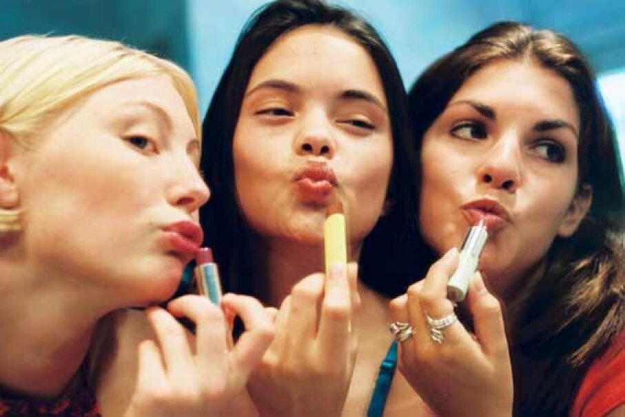 The 'lipstick index' supposedly means that when lipstick sales increase, the economy is worsening but it has not proved to be always true. BananaStock/Thinkstock