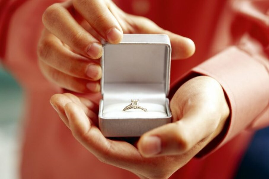 Some people might find it strange to spend a small fortune on an engagement ring.  ©Brand X Pictures/Thinkstock
