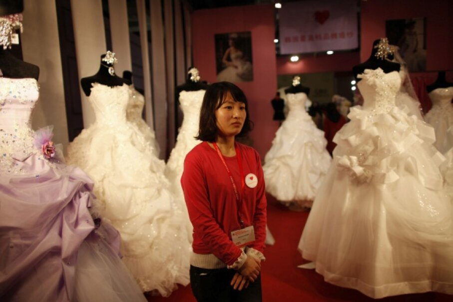 Most bridal shows and wedding expos are held in late winter to precede prime wedding season by a few months. This photo was taken at the China International Wedding Expo in Shanghai in February 2012. © ALY SONG/Reuters/Corbis