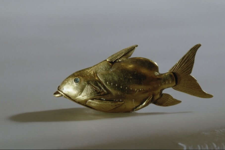 Egyptian fish amulets, called nekhau, were thought to protect people from drowning. Werner Forman/Universal Images Group/Getty Images